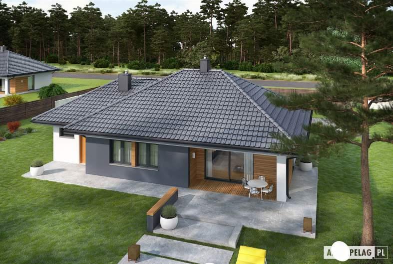 Projekt domu Mini 1 G1 - widok z góry