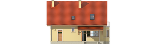 Projekt domu Aga II G1 - elewacja tylna