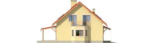 Projekt domu Aga II G1 - elewacja lewa