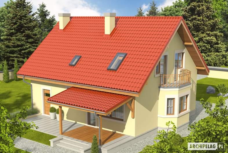 Projekt domu Aga II G1 - widok z góry