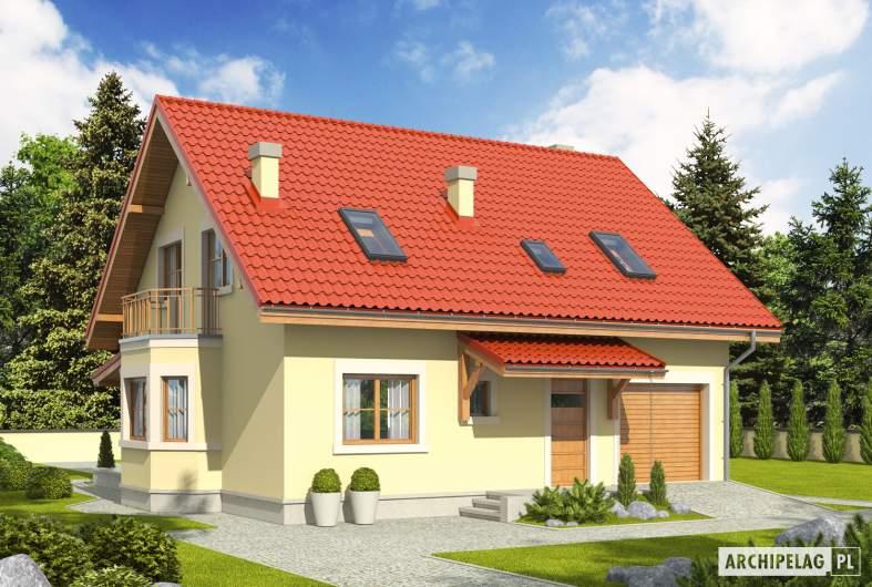 Projekt domu Aga II G1 - wizualizacja frontowa