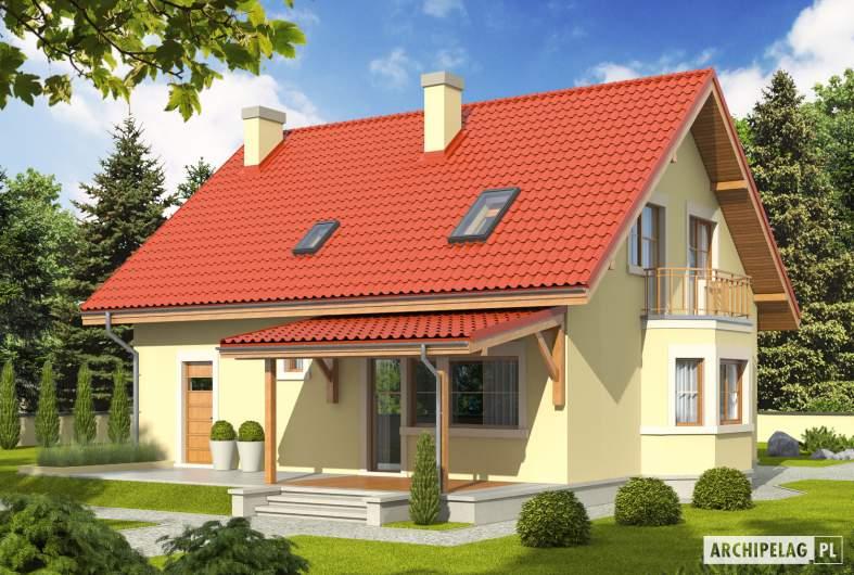 Projekt domu Aga II G1 - wizualizacja ogrodowa