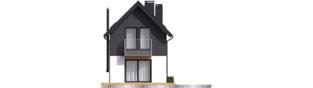 Projekt domu Moniczka II (wersja A) - elewacja tylna