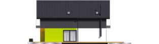 Projekt domu Moniczka II (wersja A) - elewacja prawa
