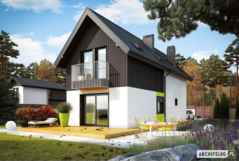 Projekt domu Moniczka II (wersja A) - wizualizacja ogrodowa