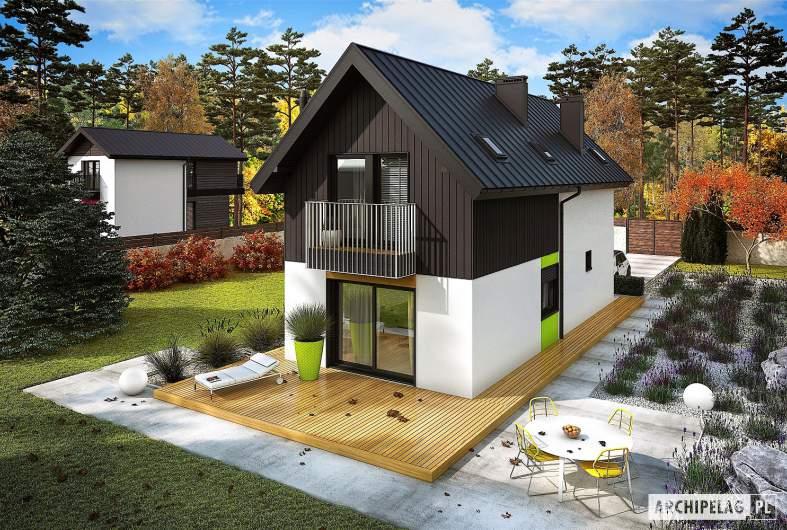 Projekt domu Moniczka II (wersja A) - widok z góry