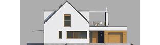 Projekt domu Neo G1 ENERGO - elewacja frontowa