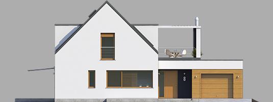 Neo G1 A++ - Projekt domu Neo G1 ENERGO - elewacja frontowa