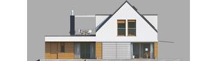 Projekt domu Neo G1 ENERGO - elewacja tylna