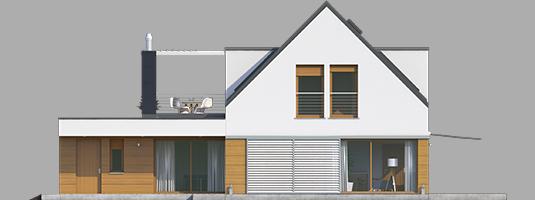 Neo G1 A++ - Projekt domu Neo G1 ENERGO - elewacja tylna
