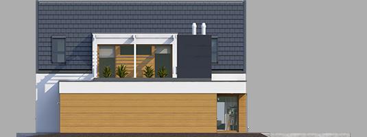 Neo G1 A++ - Projekt domu Neo G1 ENERGO - elewacja prawa