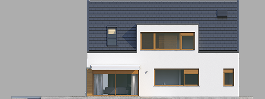Neo G1 A++ - Projekt domu Neo G1 ENERGO - elewacja lewa