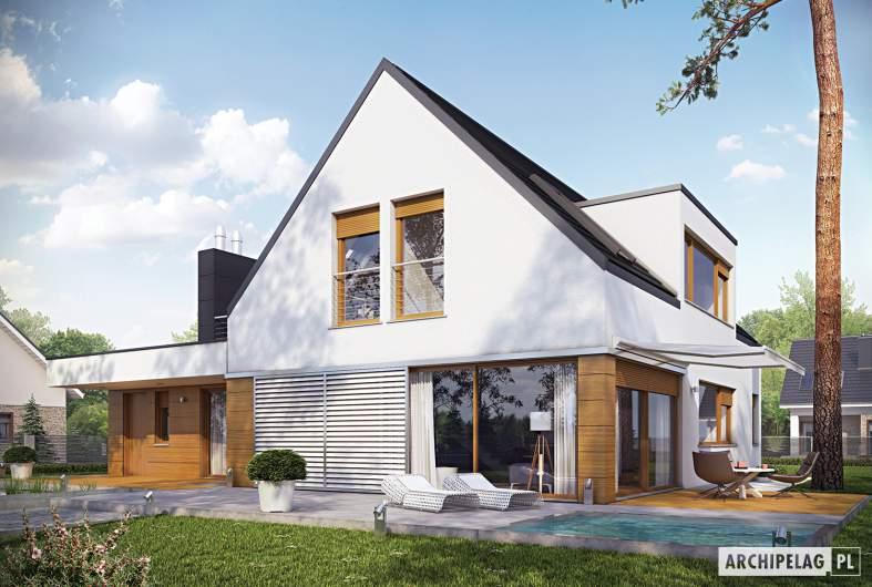 Projekt domu Neo G1 ENERGO - wizualizacja orgodowa