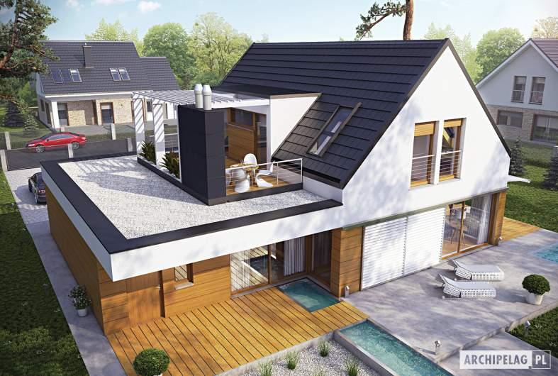 Projekt domu Neo G1 ENERGO - widok z góry