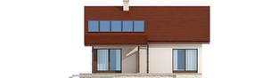 Projekt domu Elmo IV ENERGO - elewacja tylna