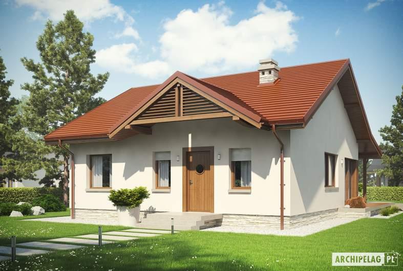 Projekt domu Elmo IV ENERGO - Projekty domów ARCHIPELAG - Elmo IV ENERGO - wizualizacja frontowa