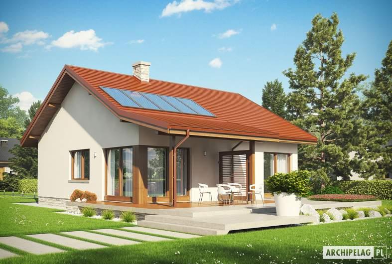 Projekt domu Elmo IV ENERGO - Projekty domów ARCHIPELAG - Elmo IV ENERGO - wizualizacja ogrodowa