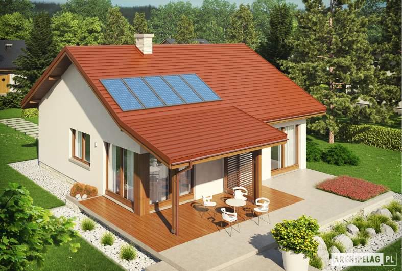 Projekt domu Elmo IV ENERGO - Projekty domów ARCHIPELAG - Elmo IV ENERGO - widok z góry