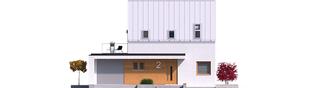 Projekt domu Mini 2 G1 PLUS - elewacja frontowa
