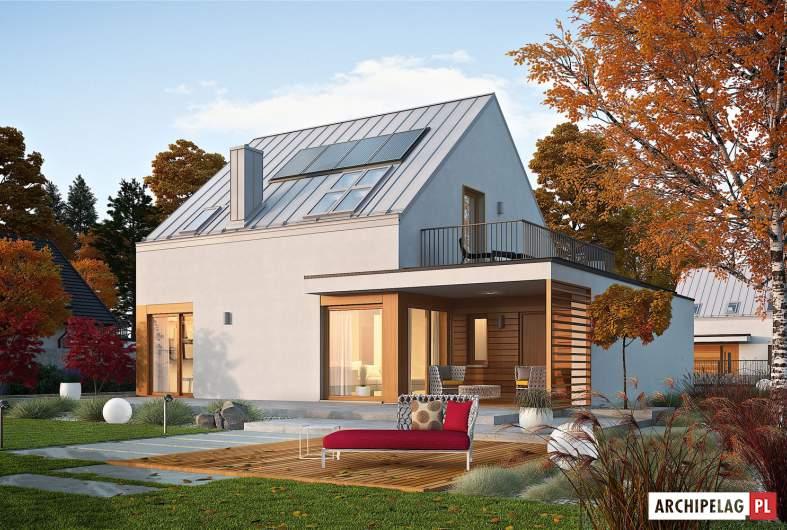 Projekt domu Mini 2 G1 PLUS - wizualizacja ogrodowa