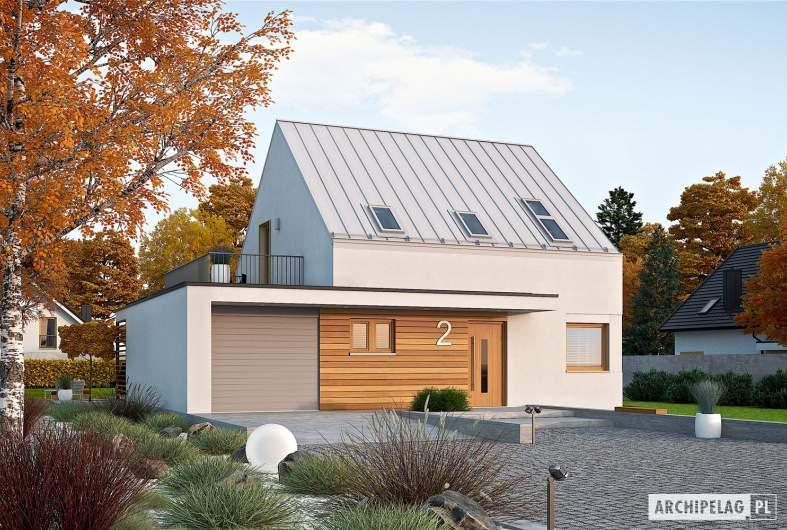 Projekt domu Mini 2 G1 PLUS - wizualizacja frontowa
