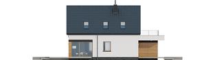 Projekt domu E13 G1 ENERGO PLUS - elewacja lewa
