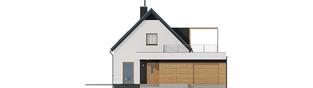 Projekt domu E13 G1 ENERGO PLUS - elewacja frontowa