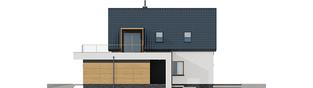 Projekt domu E13 G1 ENERGO PLUS - elewacja prawa