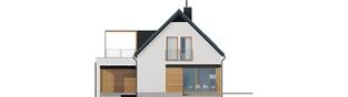 Projekt domu E13 G1 ENERGO PLUS - elewacja tylna