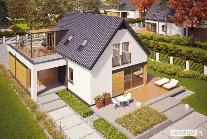 Projekt domu E13 G1 ENERGO PLUS - widok z góry