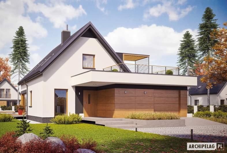 Projekt domu E13 G1 ENERGO PLUS - wizualizacja frontowa
