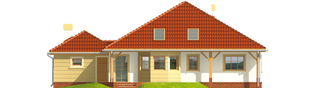 Projekt domu Kasandra G1 - elewacja tylna