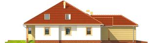 Projekt domu Kasandra G1 - elewacja lewa