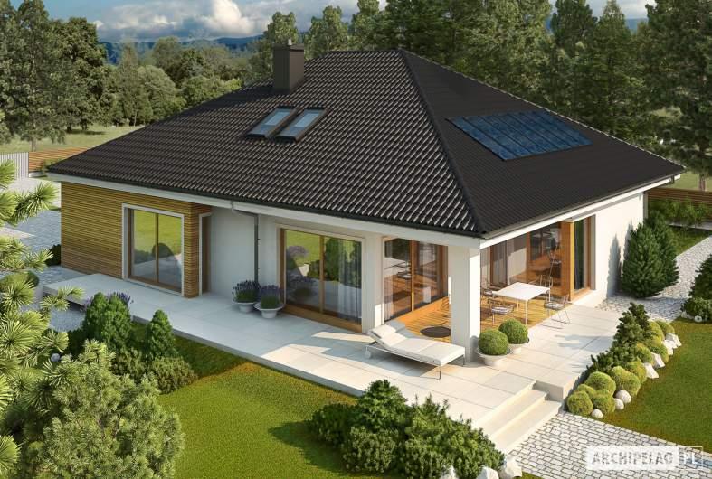 Projekt domu Liv 3 G2 MULTI-COMFORT - widok z góry