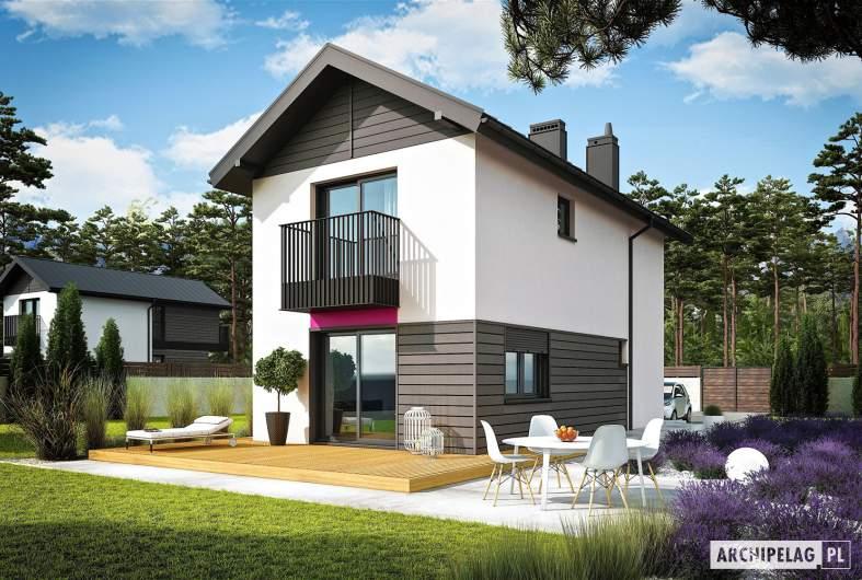 Projekt domu Moniczka - wizualizacja ogrodowa