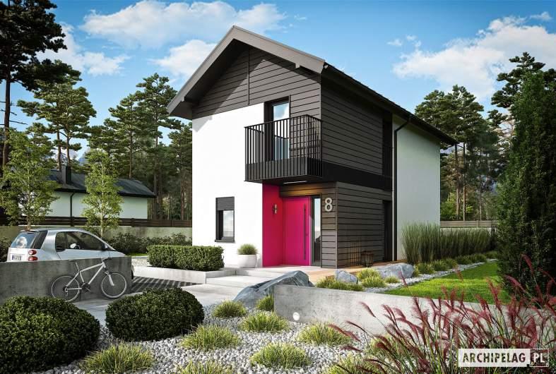 Projekt domu Moniczka - wizualizacja frontowa