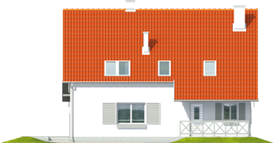 Rafaelė - Projekt domu Rafaela - elewacja frontowa