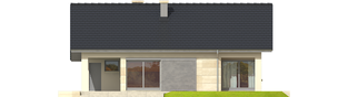 Projekt domu Tori III G1 - elewacja tylna