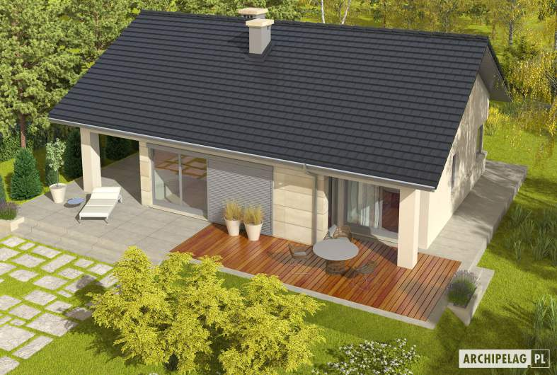 Projekt domu Tori III G1 - widok z góry