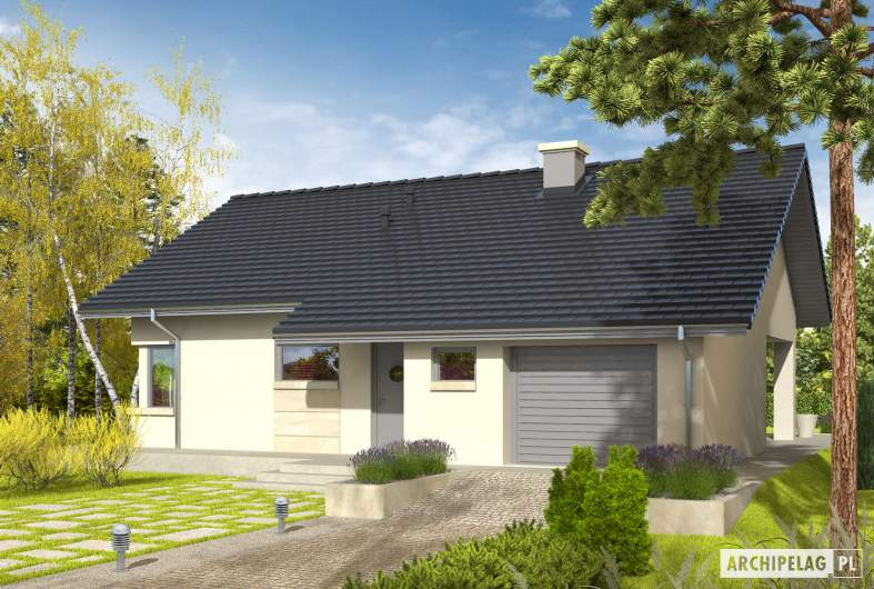 Projekt domu Tori III G1 - wizualizacja frontowa