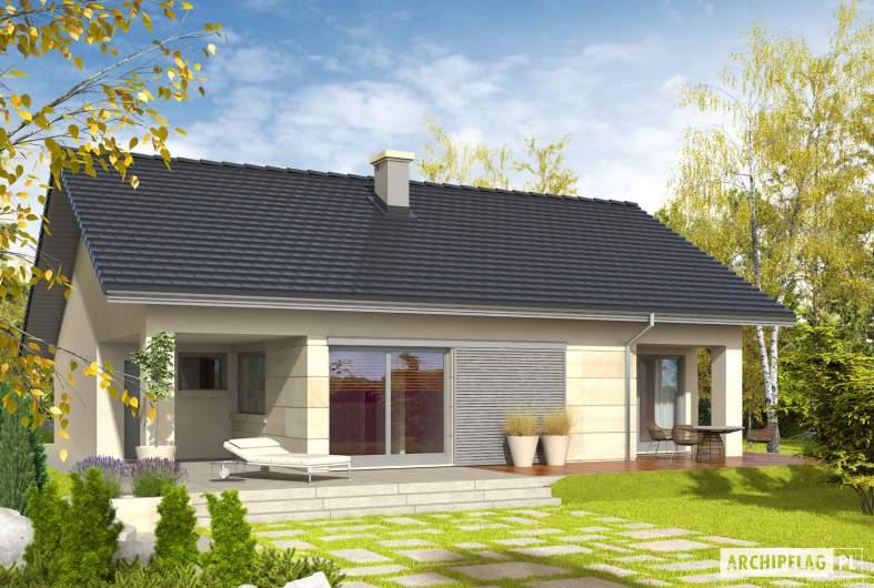 Projekt domu Tori III G1 - wizualizacja ogrodowa