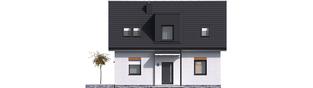 Projekt domu Witek II - elewacja frontowa