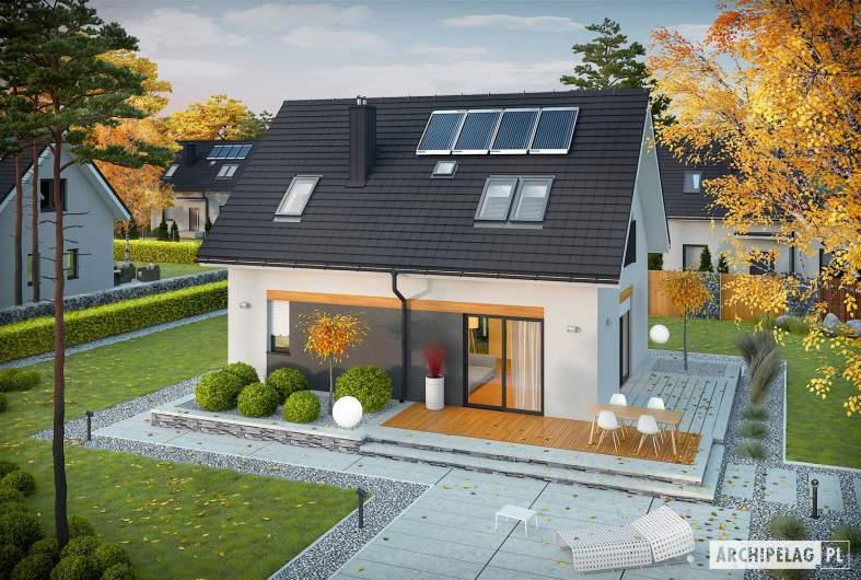 Projekt domu Witek II - Projekty domów ARCHIPELAG - Witek II - widok z góry