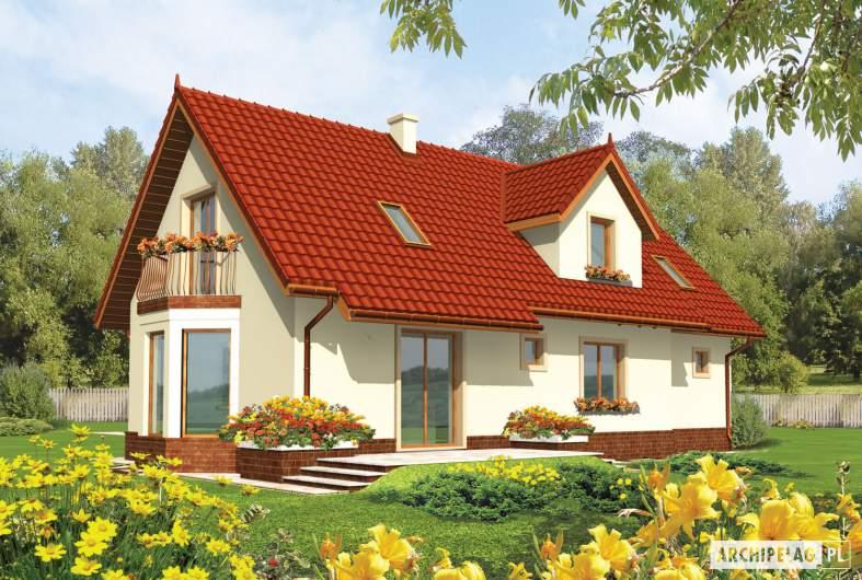 Projekt domu Megi II G1 - wizualizacja ogrodowa