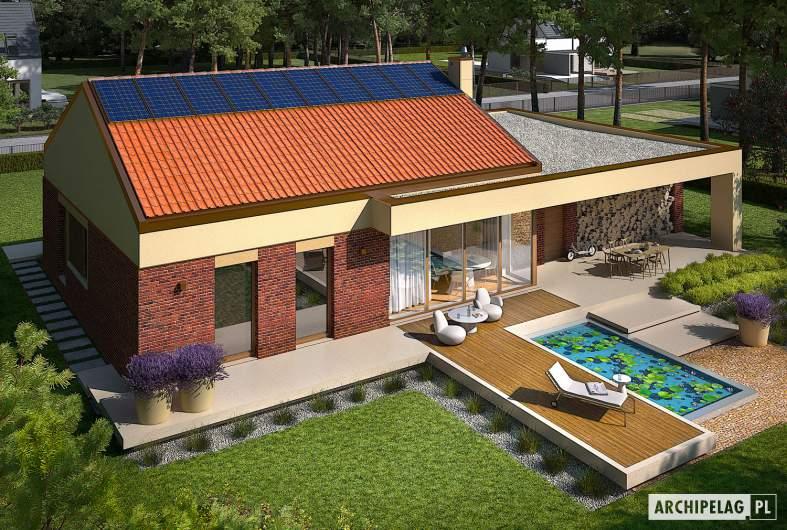 Projekt domu EX 11 G2 (wersja B) - widok z góry