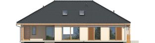 Projekt domu Andrea II G1 - elewacja tylna