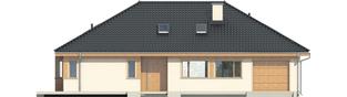 Projekt domu Andrea II G1 - elewacja frontowa