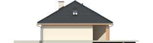 Projekt domu Andrea II G1 - elewacja prawa
