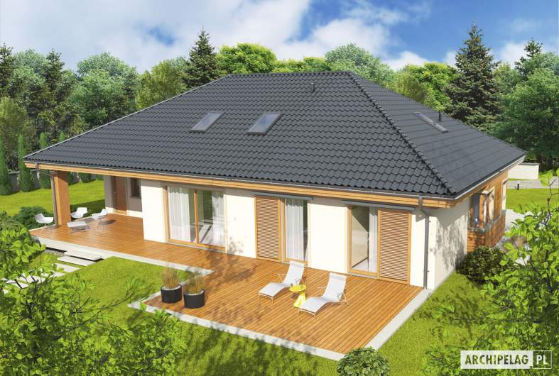 Projekt domu Andrea II G1 - Projekty domów ARCHIPELAG - Andrea II G1 - widok z góry