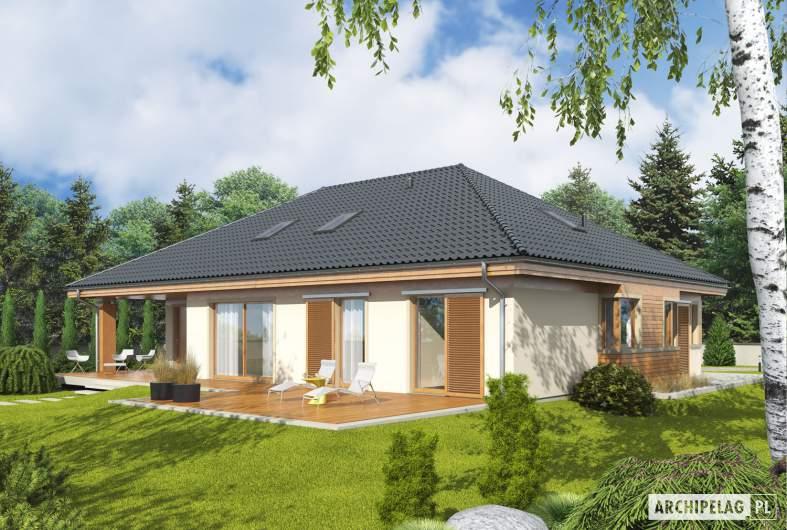 Projekt domu Andrea II G1 - Projekty domów ARCHIPELAG - Andrea II G1 - wizualizacja ogrodowa